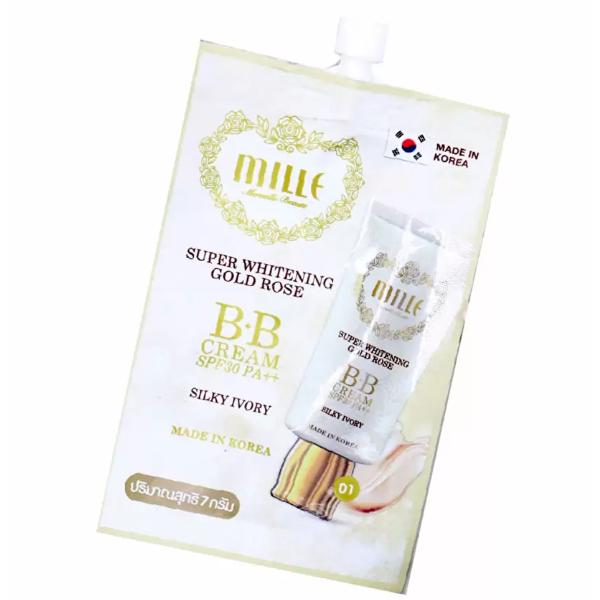Mille SUPER WHITENING GOLD ROSE BB CREAM SPF30 PA++ No.1